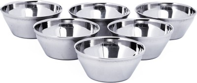 Embassy Euro Vati Stainless Steel Bowl(Steel, Pack of 6)