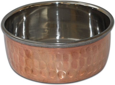 Dakshcraft Indian Bowls Small Handmade Tableware Copper, Stainless Steel Bowl(Gold, Pack of 1)