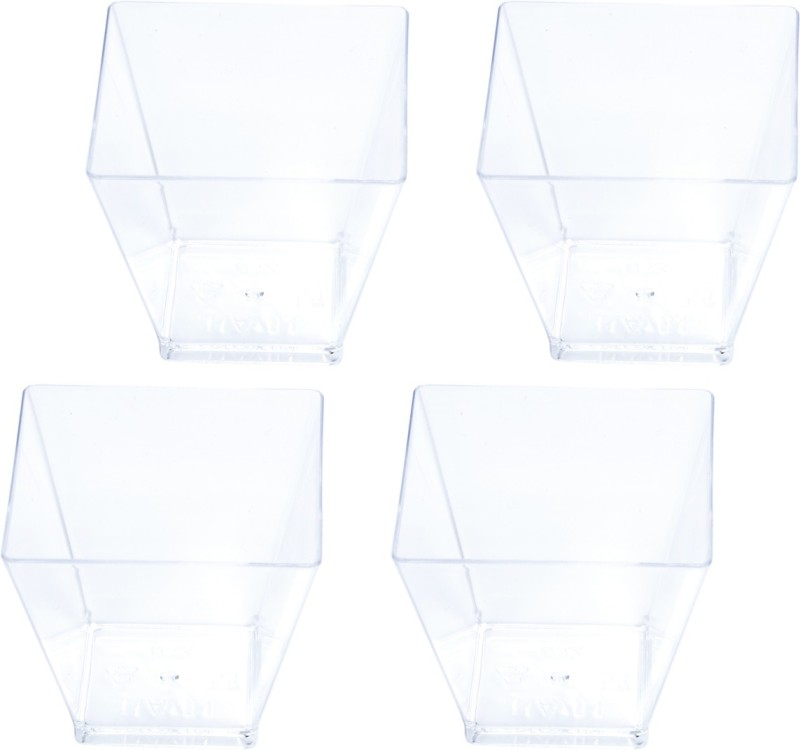 CLASSY Plastic Disposable Bowl Set(Clear, Pack of 1)
