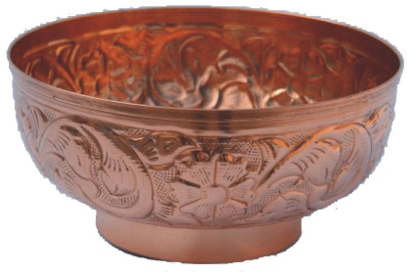 Veda Home & Lifestyle Copper Bowl(Clear, Pack of 1)