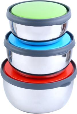 BJA Steel Bowl Set(Multicolor, Pack of 3) at flipkart