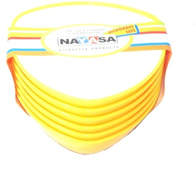 Nayasa Plastic Bowl Set(Yellow, Pack of 6)
