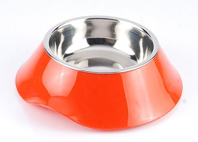Heureux Kitty Stainless Steel Bowl