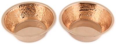 Kalpaveda Copper Bowl Set(Brown, Pack of 2)