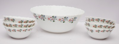 La Opala Laurel Vine Pudding Set Ceramic Bowl Set
