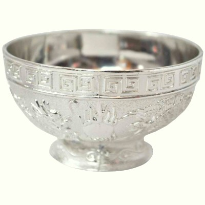 Sambhav Products Dragon Bowel Medium Silver Plated Bowl(Silver, Pack of 1)