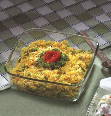 Borosil Square Dish without Handle-1.6 L Glass Bowl
