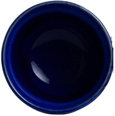 Caffeine Handmade Studio Blue Small & Stout Pudding Dessert Ceramic Bowl (Set of 2) Stoneware Bowl Set