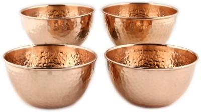 Kalpaveda Copper Bowl Set(Brown, Pack of 4)