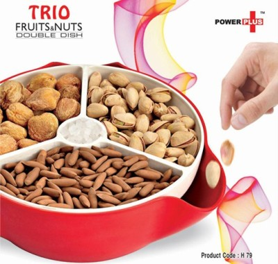 Empreus Power Plus Trio Fruit & Nuts Double Dish Plastic Bowl