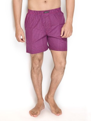 Wineberry Show Off Checkered Men's Boxer