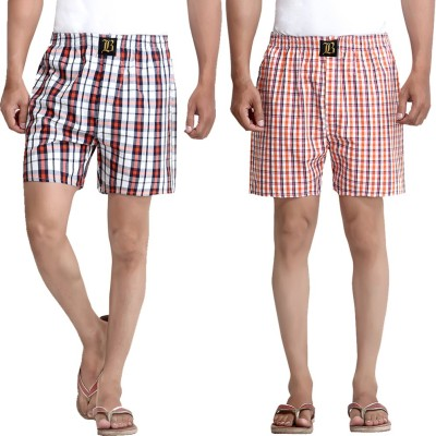 London Bee Multicolor Checkered Men's Boxer