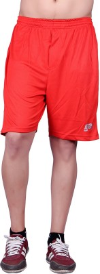Gag Wear Solid Mens Red Sports Shorts