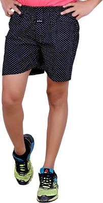 Legmark Printed Men's Black Basic Shorts