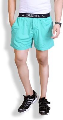 Lanosuc Solid Men's Light Blue Basic Shorts