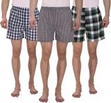 Osmonde Checkered Men's Boxer (Pack of 3...