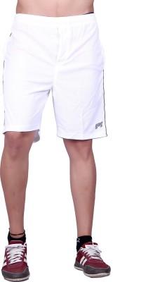 Gag Wear Solid Men's White, Dark Blue Sports Shorts