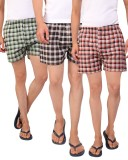 Bdi Checkered Men's Boxer (Pack of 3)
