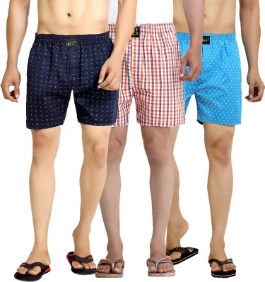 London Bee Printed, Checkered Men's Boxer