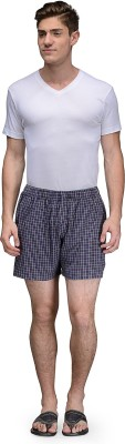 Being Fab Checkered Men's Purple Boxer Shorts