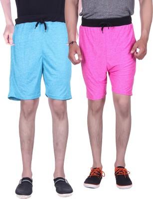 Gag Wear Solid Men's Pink, Light Blue Baggy Shorts