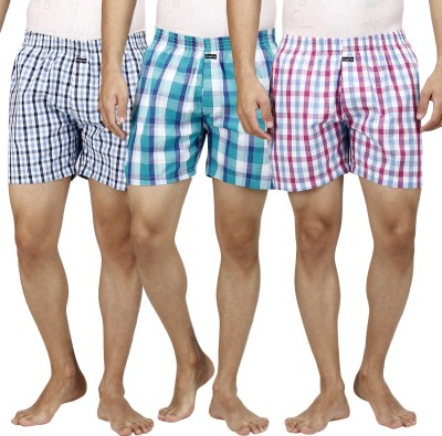 Inspire Pack Of 3 Checkered Mens Boxer