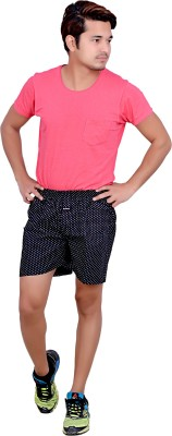 LEGMARK Printed Men's Black Boxer Shorts