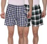 Osmonde Checkered Men's Boxer (Pack of 2...