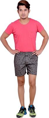 LEGMARK Printed Men's Grey Basic Shorts