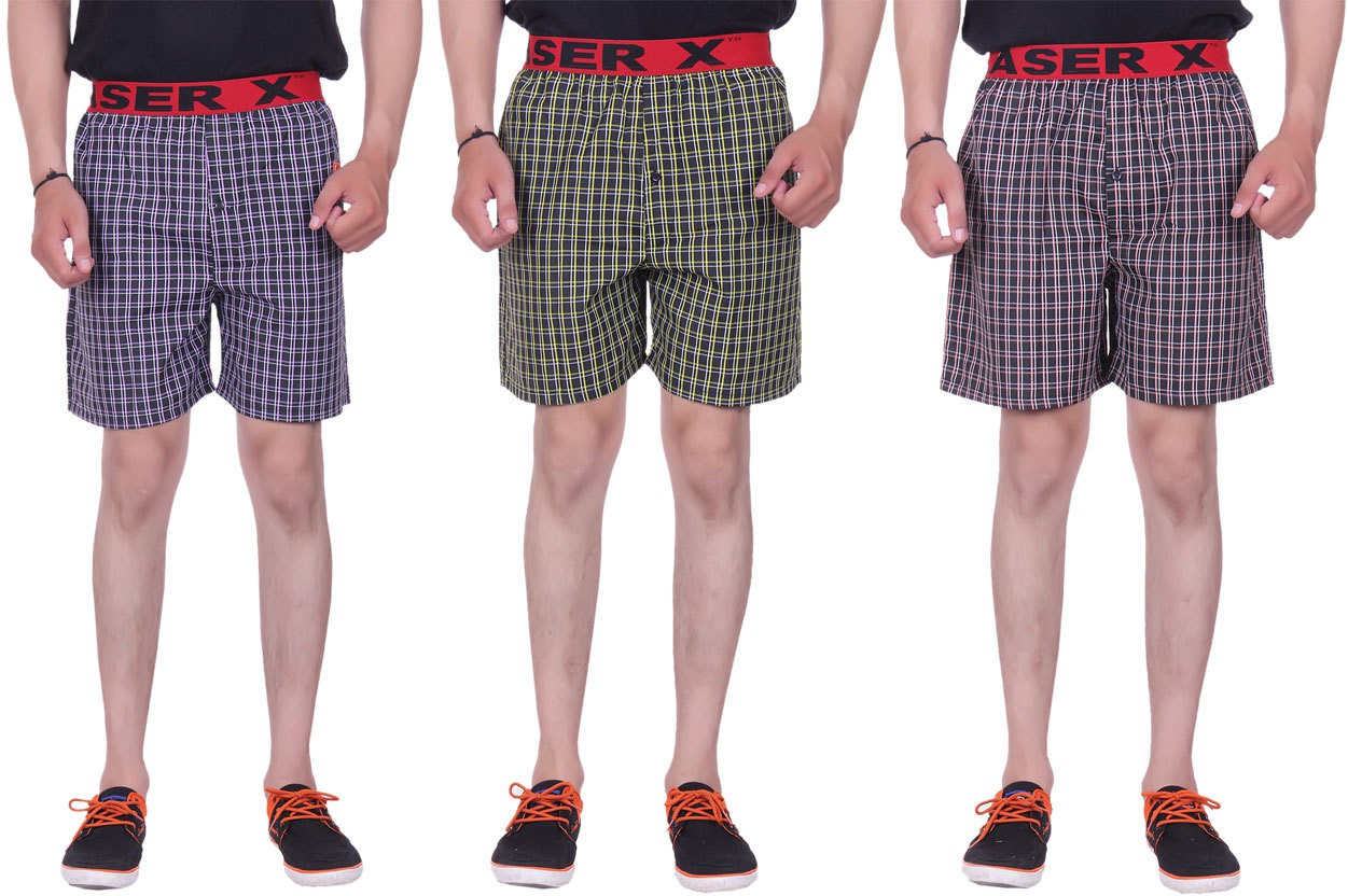 Laser X Superb Checkered Mens Boxer(Pack of 3)