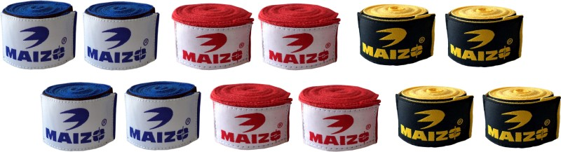 Maizo MHW 108 2 Blue 2 Red 2 Yellow Boxing Hand Wrap(108 inch)