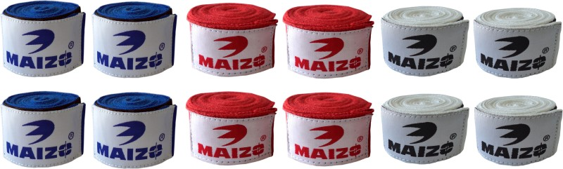 Maizo MHW 108 2 Blue 2 Red 2 White Boxing Hand Wrap(108 inch)