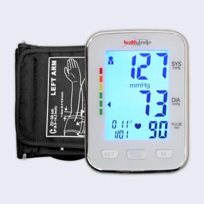 Healthgenie BPM04BL Digital Upper Arm Blood Pressure Monitor Fully Automatic | Irregular Heartbeat Detector | Batteries Included | 2 Year Warranty Bp Monitor(Grey)