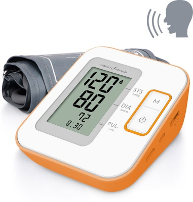Health Sense Heart-Mate Classic BP-100 (Talking) Upper Arm Digital Bp Monitor(White, Orange) at flipkart