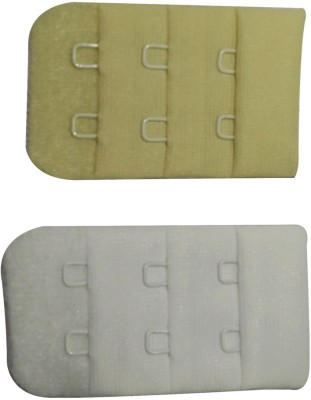 Bralux Hook Extender(Beige, White Pack of 2)