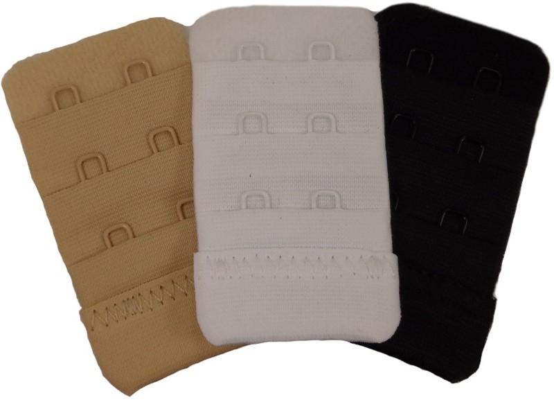 Laceandme Hook Extender(White, Black, Beige Pack of 3)