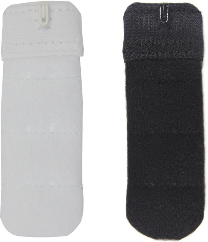 STYLISH ME 1 Hook Strap Extender(White, Black Pack of 2)