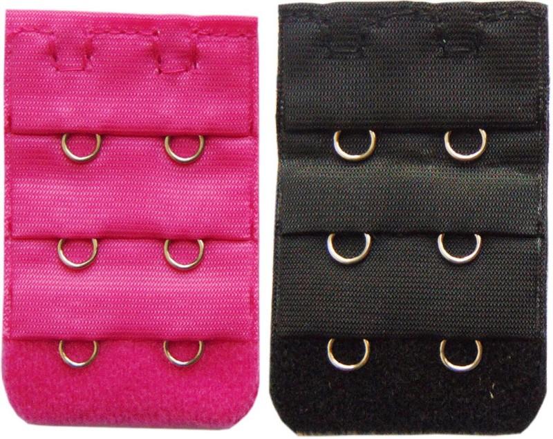 STYLISH ME 2 Hook Strap Extender(Black, Pink Pack of 2)