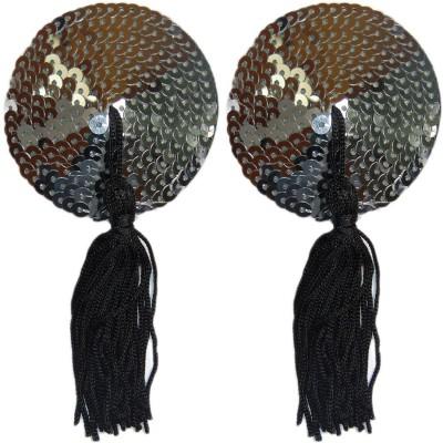 Muquam Reusable Round String Polyester, Nylon Peel and Stick Bra Petals