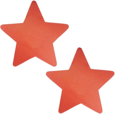 AayanBaby Red Star Polyester, Spandex Peel and Stick Bra Petals