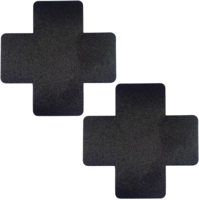 AayanBaby Black Cross Polyester, Spandex Peel and Stick Bra Petals