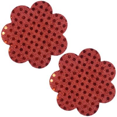 Muquam Red Flower Polyester, Spandex Peel and Stick Bra Petals