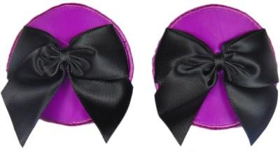 Muquam Purple Reusable Round Polyester, Nylon Peel and Stick Bra Petals