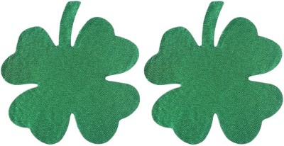 AayanBaby Green Leaf Polyester, Spandex Peel and Stick Bra Petals