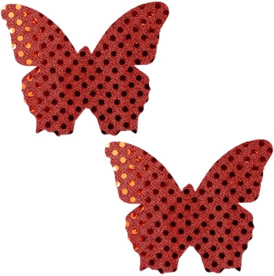 AayanBaby Red Butterfly Polyester, Spandex Peel and Stick Bra Petals