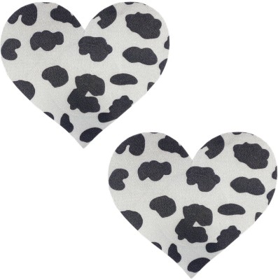 Sizzle N Shine White Heart Polyester, Spandex Peel and Stick Bra Petals(White, Black Pack of 1)