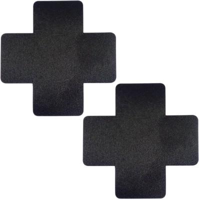 Muquam Black Cross Polyester, Spandex Peel and Stick Bra Petals