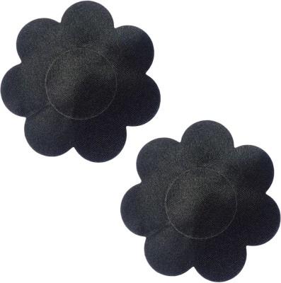 AayanBaby Black Flower Polyester, Spandex Peel and Stick Bra Petals