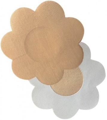 AayanBaby Beige Flower Polyester, Spandex Peel and Stick Bra Petals