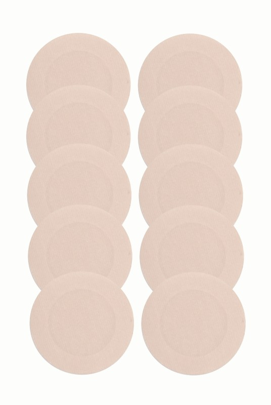 Glus Polyester Peel and Stick Bra Petals(Beige Pack of 10)